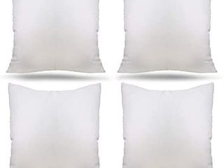 Ogrmar 4 Packs 18 x18  Premium White Throw Pillow