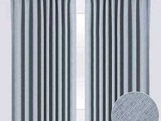 Chanasya 2 Panel Two Color Tone Textured Heavy Curtains   for Windows living Room Bedroom Patio Office