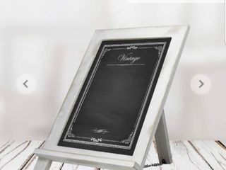 Initium Collection Framed Chalkboard Rustic Sign Memo Board