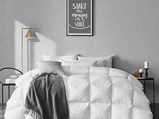 APSMIlE 100  Organic Cotton Goose Feather Down Comforter