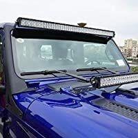 AUXMART 52  light Bar Windshield Mounting Brackets for 2018 2019 Jeep Wrangler Jl
