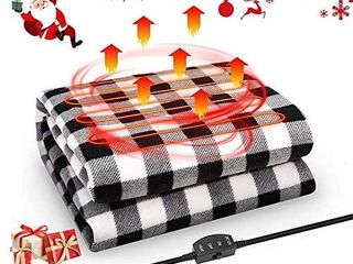 JoyTutus Car Heated Blanket  12V Fleece Electric Car Blanket