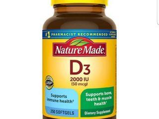 Nature Made Vitamin D3 2000 IU  50 mcg  Softgels   250ct