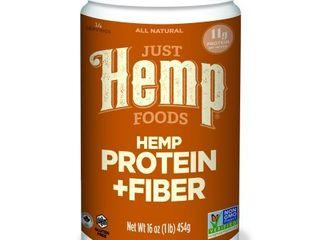 Just Hemp Foods Hemp Protein   Fiber Powder  Unflavored  11g Protein  1 0lb  16 0oz