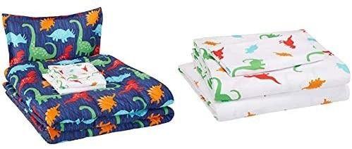 AmazonBasics Easy Care Super Soft Microfiber Kid s Bed in a Bag Bedding Set