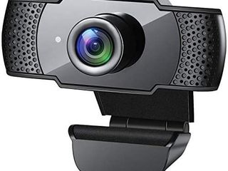 Webcam with Microphone  1080P HD Streaming USB Computer Webcam  Plug and Play   30fps  for PC