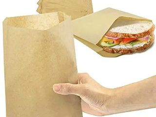 Plain Wax Sandwich Bags Grease Resistant White Paper Bags 1000