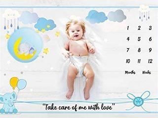 Baby Monthly Milestone Blanket Girl   Boys Photo Blanket for Newborn Baby Shower Month Blanket for Baby