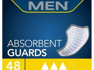 Tena Incontinence Guards For Men  Moderate Absorbency   48ct  White