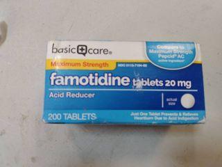 Basic Care Maximum Strength Famotidine Tablets 20 Mg  Acid Reducer For Heartburn