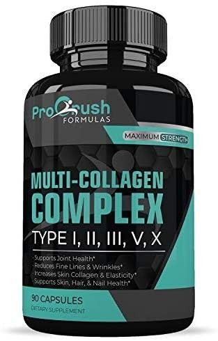 Multi Collagen Complex  All in One Formula Supports Cartilage  Joint   Bone Health  Powerful Anti Aging Supplement Improves Skin  Hair  Nails  Fine lines   Wrinkles to look   Feel Younger