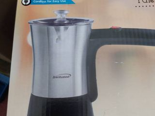 Brentwood TS 117S Stainless Steel Electric Turkish Coffee Maker  5 Turkish Cups