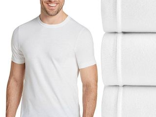 Jockey men s classic collection crew neck tagless Undershirt 3 pack with staynew technology