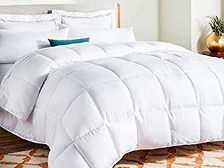 lINENSPA All Season White Down Alternative Quilted Comforter King