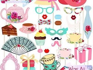 Tea Party Fun Tea Party Supplies  Party Decorations  30 Pack