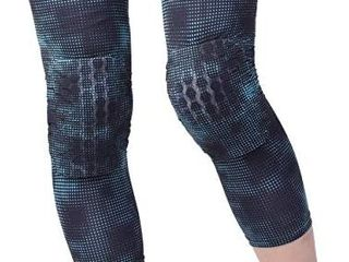 HiRui Knee Pad  Knee Brace Knee Support  Honeycomb Crashproof Football Basketball Kneepad  Compression leg Sleeves for Running Cycling Pain Relief  Kids Youth Women Men 1 pair