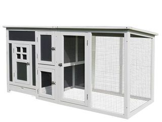PawHut 63 inch Wood large Indoor Outdoor Chicken Coop with Run  amp  Nesting Box  Retail 215 99
