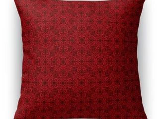 Kavka Designs Red Maroon Tex Accent Pillow