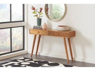 Coaster Essence 2 Drawer Console Table Natural Brown  Retail 250 00