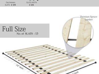 ONETAN  0 75 Inch Heavy Duty Mattress Support Wooden Bunkie Board Slats  73 l 54 W