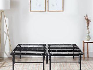 Rest Haven 14 iinch Steel Platform Bed Frame  Full  Black