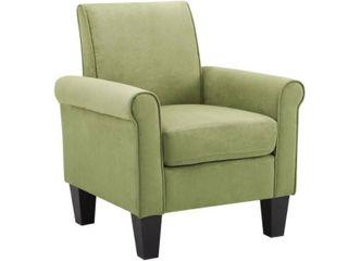Porch   Den Royalann Microfiber Fabric lime Green Armchair