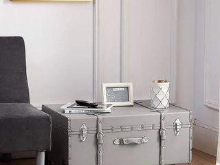 TextureA Brand Trunk   Glitter Gray