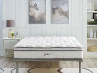 Modway Jenna Ultimate Quilted Pillow Top 10  Innerspring Mattress King