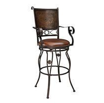 Powell Aberdeen Stamped Back Big and Tall Barstool with Arms  Retail 169 49