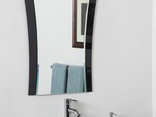 Deco Bathroom Mirror   Silver