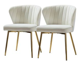 Ivory  Milia Dining Chair Set of 2  Retail 188 49