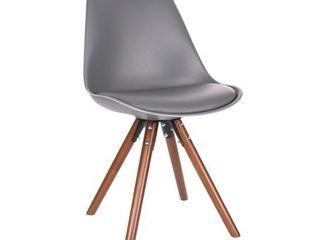 Design lab Viborg Grey Walnut Dining Chair Set of 2