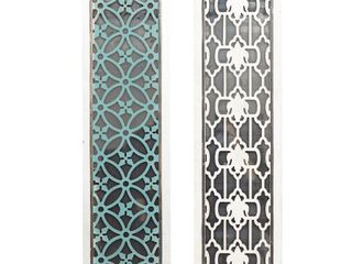 Attractive Styled Wood Mirror Panel  Set of 2