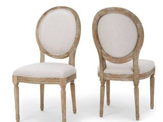 Phinnaeus Fabric Dining Chair by Christopher Knight Home  Set of 2    Retail 339 00