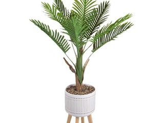 Flora Bunda 4 ft  Areca Palm in Ceramic Planter on Wood Stand