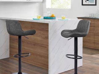 Art leon Adjustable Swivel Barstools  Set Of 2