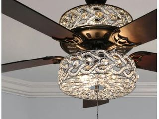 River of Goods 52  luxe Enlaced Crystal lED Ceiling Fan with light  Retail   260 99
