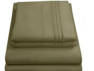 Sweet Home Collection 1800 Thread Count Egyptian Quality 4 Piece Deep Pocket Sheet Sheet  King