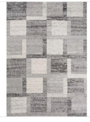 Converse Grey White Foggy Square Rug 5 3 x7 7