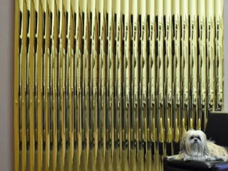 Gold Mirror Vinyl Vertical Blind  Cordless  Retail 109 99