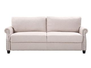 living Room linen Nailhead Storage Sofa  Retail 431 99