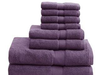 Madison Park Signature 800 GSM 100 percent Cotton Bath Towel  8 Piece