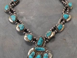 Statement Necklace with Turquoise Stones