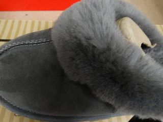 Pair of Size 7 Grey Shearling Slippers