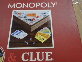 Deluxe Vintage Edition 2 in 1 Monopoly Clue Game Collection