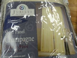 Pair of 59 x84  Champagne Sheer Panels