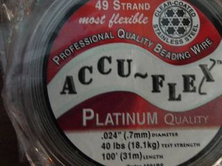 lot of Accu Flex Platinum Quality Beading Wire
