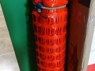 Roll of Orange Caution Fencing