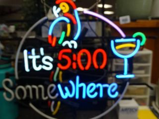 It s 5 00 Somewhere  Neon Sign