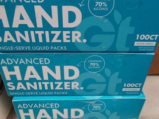 lot of Advanced Hand Sanitizer Single Serve liquid Packs